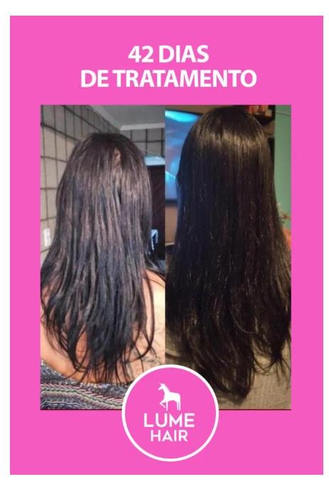 Lume Hair antes e depois